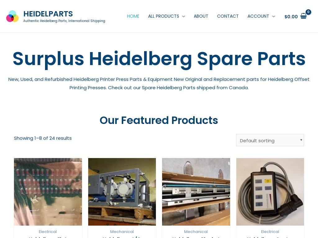 heidelparts.com - Authentic Heidelberg Parts, International Shipping